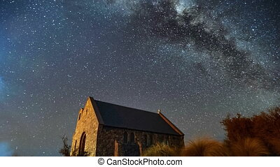 Milky Way Above Church, PLZO - Beautiful Milky Way Galaxy...