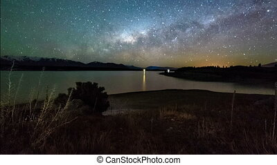 Milky Way Above Lake Pukaki, PU - Milky Way Above Lake...