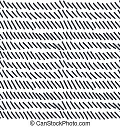 Hand drawn seamless indigo dashed line texture, vector...