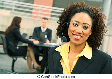 Successful Businesswoman - show of african american business...