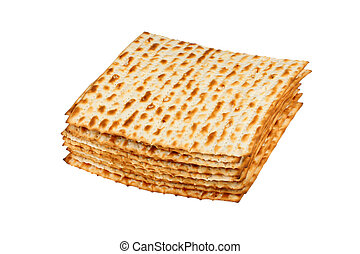 Matzo  on white background
