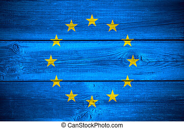 European Union flag - flag of European Union or banner on...