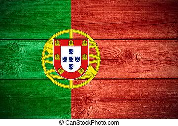 Portuguese flag - flag of Portugal or Portuguese banner on...