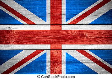 British flag - flag of United Kingdom or British banner on...