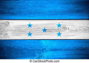 Honduran flag - flag of Honduras or Honduran banner on...