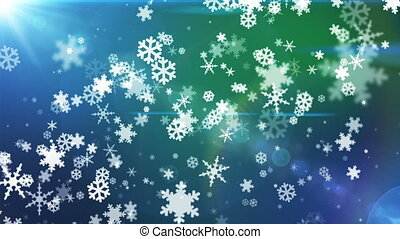 Broadcast Snow Flakes, Multi Color, Events, Loopable, HD -...