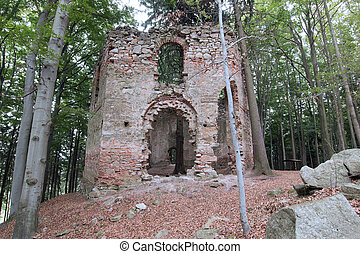 Ruins of the Baroque chapel of Saint Mary Magdalene - Ruins...