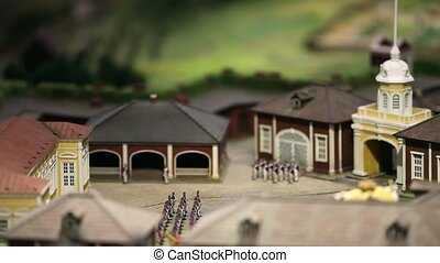 medieval town miniature model - medieval town miniature...