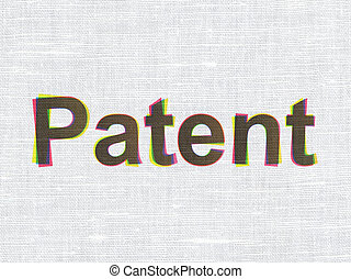 Law concept: Patent on fabric texture background