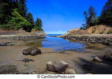 Sunset Bay State Park Oregon - Sunset Bay state park located...