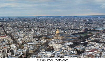 Invalides skyline timelapse - Beautiful Full HD timelapse of...