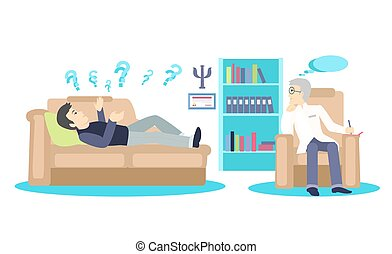 Psychologist Concept Icon Flat Isolated - Psychologist...
