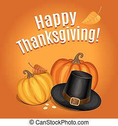Happy Thanksgiving card, poster