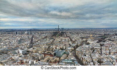Paris skyline timelapse