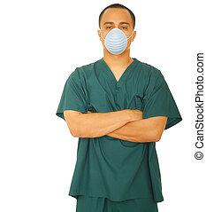 mascarado, enfermeira