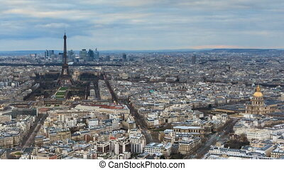 Skyline Paris timelapse - Beautiful Full HD timelapse of...