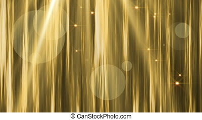 Animated Gold Background - Gold abstract lights background...