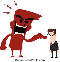 Scolded by boss - Clipart picture of a businessman cartoon...