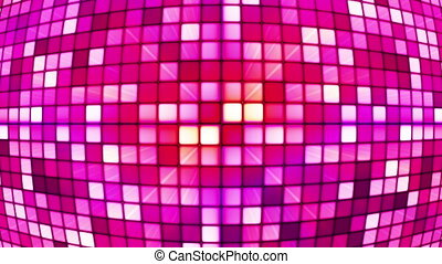 Broadcast Twinkling Hi-Tech Cubes Globe, Pink, Abstract, Loopable, HD