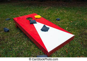 Cornhole Game Board with Bean Bags - Cornhole toss game...