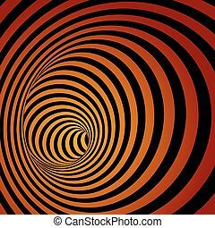 Spiral Striped Abstract Tunnel Background.