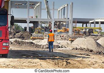 Construction site atmosphere - Construction engineer...