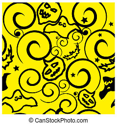 Halloween background seamless pattern vector illustration