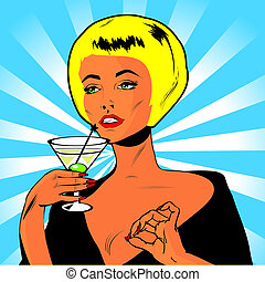 Martini Toast - Retro Clip Art - Martini Toast - Retro Clip...