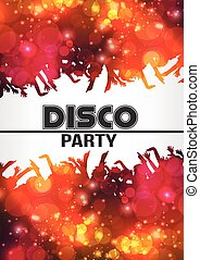 Disco Night Party Poster Background