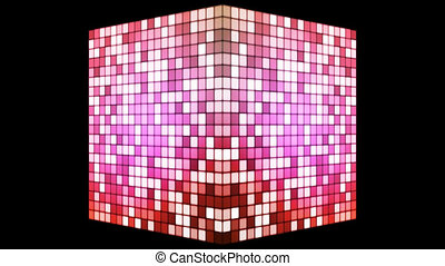 Broadcast Hi-Tech Twinkling Spinning Cube, Pink, Alpha...