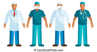 Medical staff - Vector Surgeon, Doctor logo, icons.