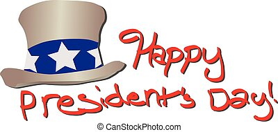 Happy Presidents Day - Happy Presidents day red text with...