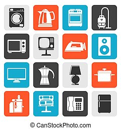 S2_000_206eps - Flat home equipment icons - vector icon set...
