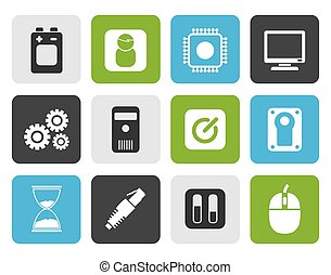 mobile phone elements icons
