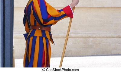 """swiss guards of pope, vativan city, 4k"""