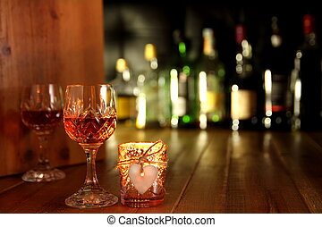 Valentines Day Romantic Candlelight Drinks