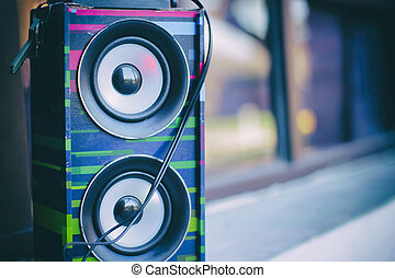Colorful modern speaker - Photograph of a colordul speaker...