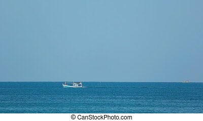 Fishing boats in Ocean - Fishing boats in Andaman Sea,...