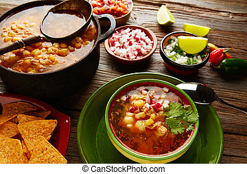pozole,  México, grande, maíz, guisado,  Mote