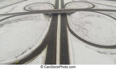 Aerial view of the motorway junctio - Aerial view of the...