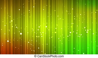 Broadcast Vertical Hi-Tech Lines Bubbles, Green, Abstract, Loopable, HD