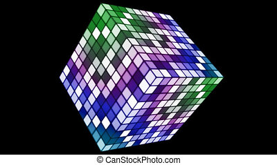 Broadcast Hi-Tech Twinkling Spinning Cube, Multi Color,...