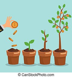 Business growth design - Business concept with growth icon...