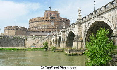 """castel sant'angelo, castle of the holy angel, rome, italy, 4k"""