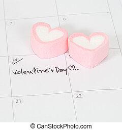 valentine's day ,plan on calendar
