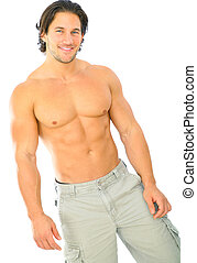 Isolated Handsome Young Caucasian Male - handsome and...