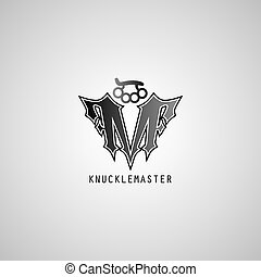knuckle logo template theme vector art illustration