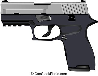 Model of tactical pistol - The modern model of tactical...