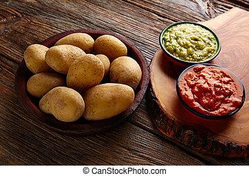 Papas al mojo Canary islands wrinkled potatoes - Papas...