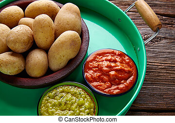 Papas al mojo Canary islands wrinkled potatoes - Papas...